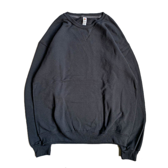 FRUIT OF THE LOOM / 7.2oz SOFSPUN CREW NECK (BLACK)