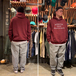 BENCH / COLLEGE LOGO HOODY (BURGUNDY)