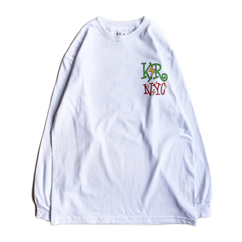 KR USA / UNITED WE'RE GRAND LS TEE (WHITE)