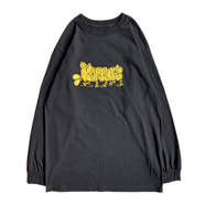 KR USA / THROW-UP LS TEE (BLACK)