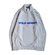POLO SPORT / LOGO HALF ZIP SWEAT (GREY)