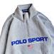 POLO SPORT / LOGO HALF ZIP SWEAT (GREY)