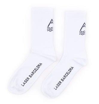 LASER BARCELONA / OG DAILY PERFORMANCE SOCKS (WHITE)