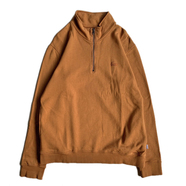 LASER BARCELONA / DOCTOR DOU HALF ZIP CREWNECK (BROWN)