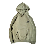 BENCH / REVERSE SLEEVE AFRO HOODIE (OLIVE)