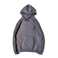BENCH / REVERSE SLEEVE AFRO HOODIE (CHARCOAL)