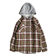 WRANGLER / FLANNEL SHIRT JACKET (BROWN)