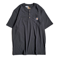 CARHARTT USA / POCKET HENLEY NECK TEE (BLACK)