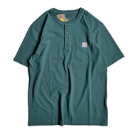 CARHARTT USA / POCKET HENLEY NECK TEE (HUNTER GREEN)