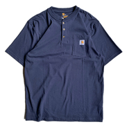 CARHARTT USA / POCKET HENLEY NECK TEE (NAVY)