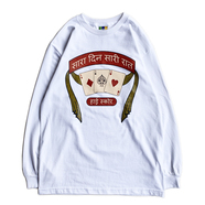 BEDLAM / TRIPLE ACE LS TEE (WHITE)