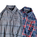 ATG by WRANGLER / UTILITY FLANNEL SHIRT (NAVY)