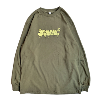 BENCH / THROW UP LS TEE (OLIVE)