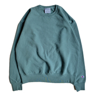 CHAMPION USA / GARMENT DYED CREW NECK (CACTUS)