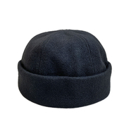 EMSTATE by WINNER CAPS / WOOL ROLL CAP (BLACK)