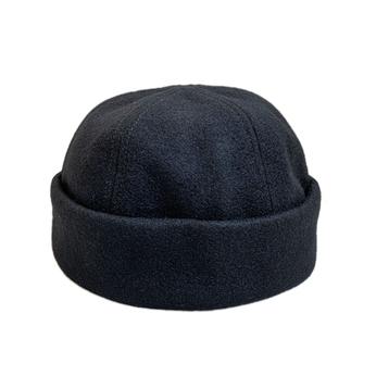 EMSTATE by WINNER CAPS / WOOL ROLL CAP (BLACK)