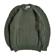 ARAN CRAFTS / MERINO WOOL ARAN SWEATER
