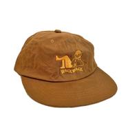 WACK WACK / COUCH POTATO WAXED COTTON 6PANEL CAP (BROWN)