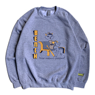BENCH / RETIRED NUMBER CREW NECK (GREY)