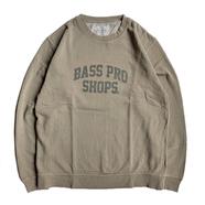 BASS PRO SHOPS / LOGO CREW NECK (KHAKI)