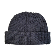 COLUMBIA KNIT / [MADE IN USA] SHORT COTTON KNIT CAP (BLACK)