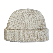 COLUMBIA KNIT / [MADE IN USA] SHORT COTTON KNIT CAP (NATURAL)