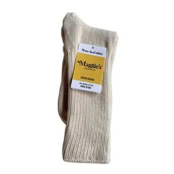 Maggie's Organic / Organic Cotton Crew Socks (Natural)