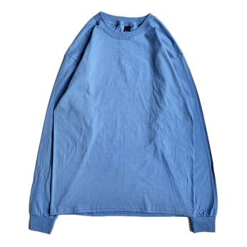 HANES / Beefy LS TEE (DENIM BLUE)