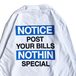 NOTHIN' SPECIAL / NOTICE LONG SLEEVE TEE (WHITE)