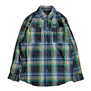 ATG by WRANGLER / UTILITY FLANNEL SHIRT (GREEN)