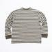 nuttyclothing / Multi Border Pocket L/S T-Shirt  (Olive)
