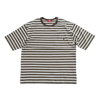 nuttyclothing / Multi Border Pocket T-Shirt (Olive)