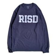 RISD(Rhode Island School of Design) / LOGO LS TEE (NAVY)