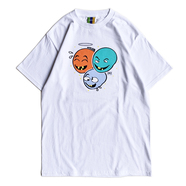 BEDLAM x CRACK GALLERY / 3 FACE TEE (WHITE)