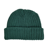COLUMBIA KNIT / [MADE IN USA] SHORT COTTON KNIT CAP (GREEN)