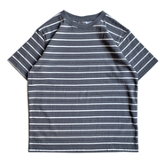 COLUMBIA KNIT / [MADE IN USA] BORDER TEE (CHARCOAL)