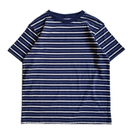 COLUMBIA KNIT / [MADE IN USA] BORDER TEE (NAVY)