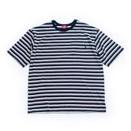 nuttyclothing / Multi Border Pocket T-Shirt (OFF WHITE x NAVY)