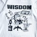 WDsounds x WACK WACK / WISDOM T-SHIRTS (WHITE)