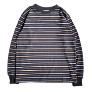 COLUMBIA KNIT / [MADE IN USA] BORDER LS TEE (BLACK)