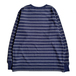 COLUMBIA KNIT / [MADE IN USA] BORDER  LS TEE (NAVY)